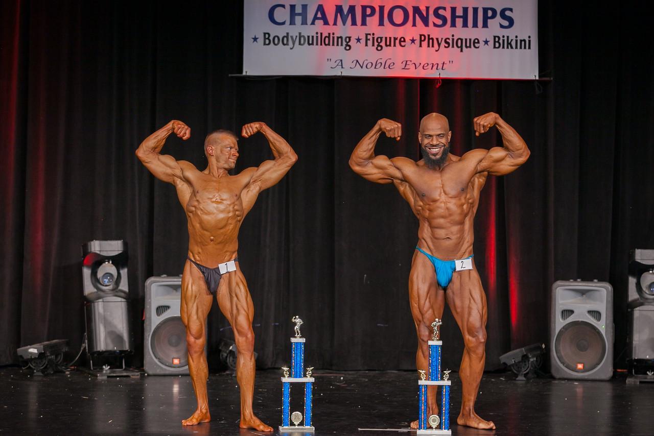 Jeremy Bergquist 2nd & Billy Boston 1st in Master Men BB 35-39